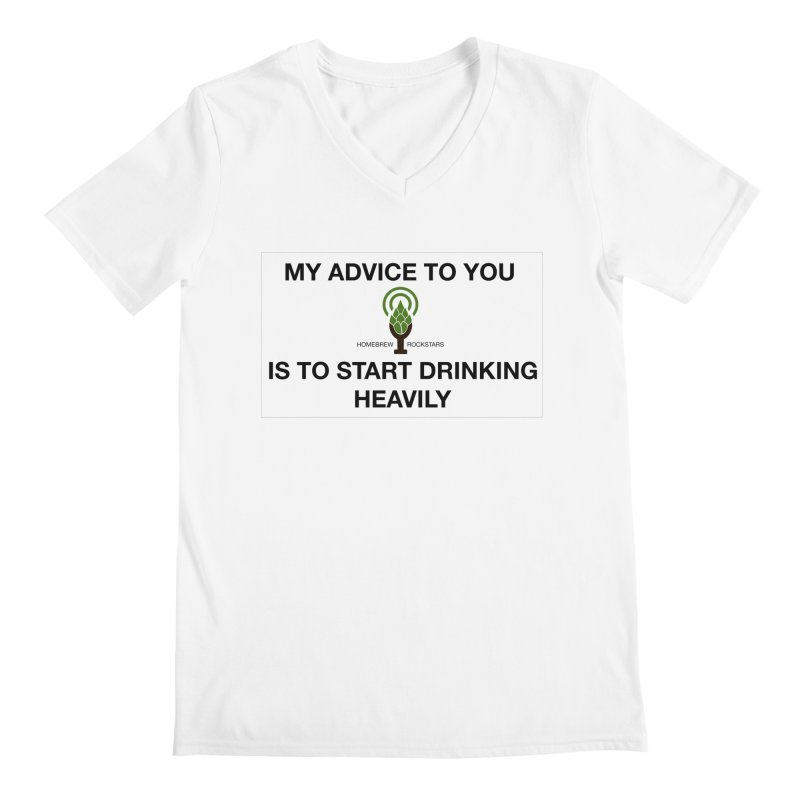Belushi Drinking Quote Men's V-Neck by HomeBrew RockStars Merch Shop