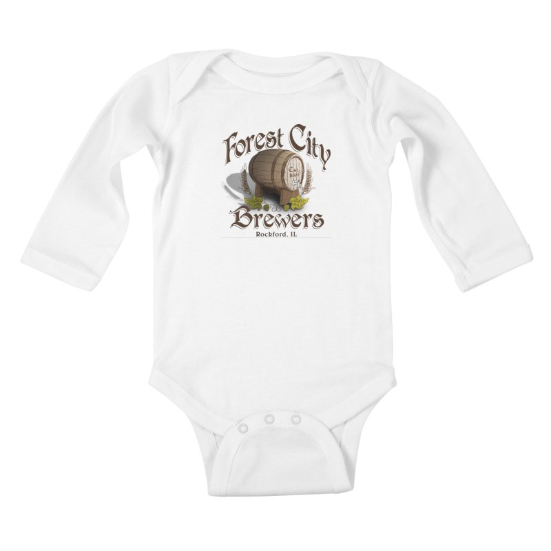 FCB Official Logo Kids Baby Longsleeve Bodysuit by HomeBrew RockStars Merch Shop