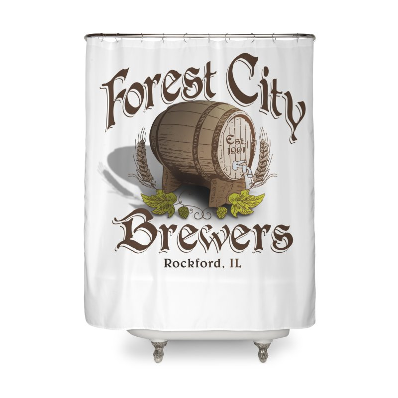 FCB Official Logo Home Shower Curtain by HomeBrew RockStars Merch Shop