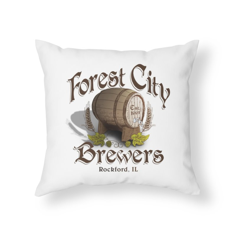 FCB Official Logo Home Throw Pillow by HomeBrew RockStars Merch Shop