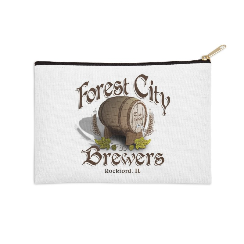 FCB Official Logo Accessories Zip Pouch by HomeBrew RockStars Merch Shop
