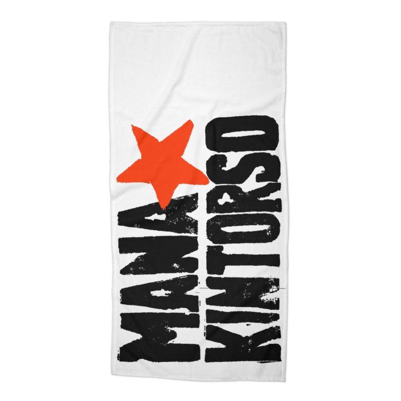 ManaKintorso Official Logo - White Accessories Beach Towel by HomeBrew RockStars Merch Shop