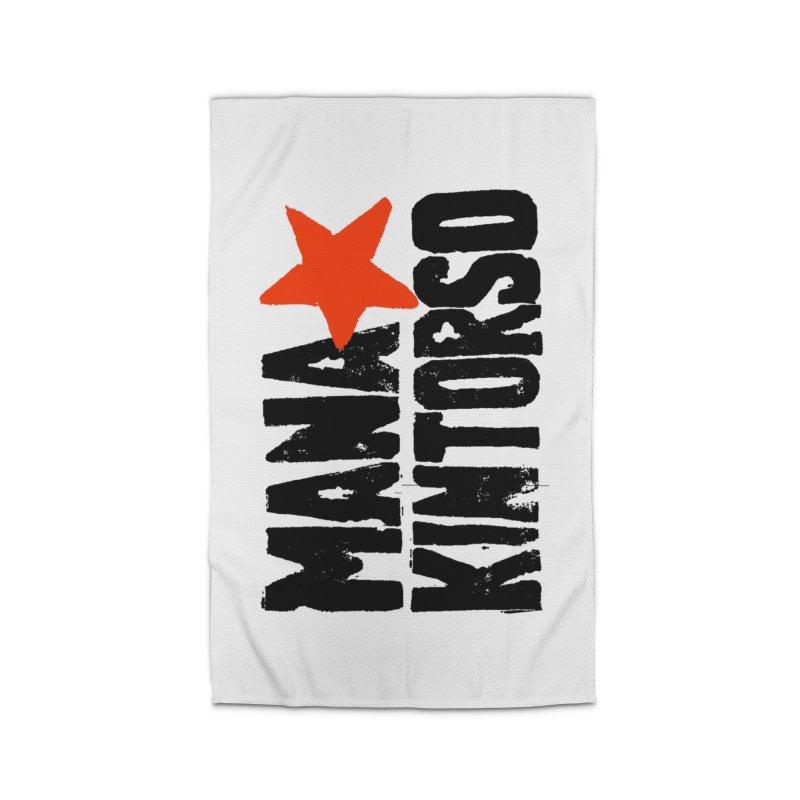 ManaKintorso Official Logo - White Home Rug by HomeBrew RockStars Merch Shop