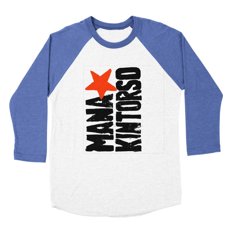 ManaKintorso Official Logo - White Men's Baseball Triblend Longsleeve T-Shirt by HomeBrew RockStars Merch Shop