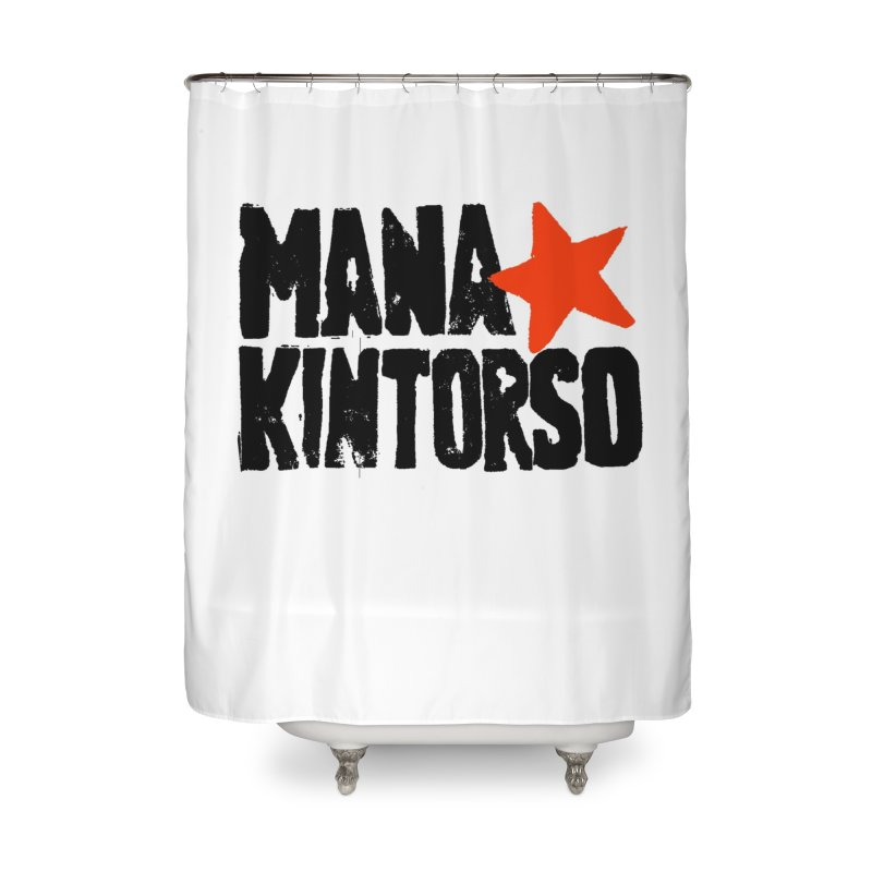 ManaKintorso Official Logo - White Home Shower Curtain by HomeBrew RockStars Merch Shop