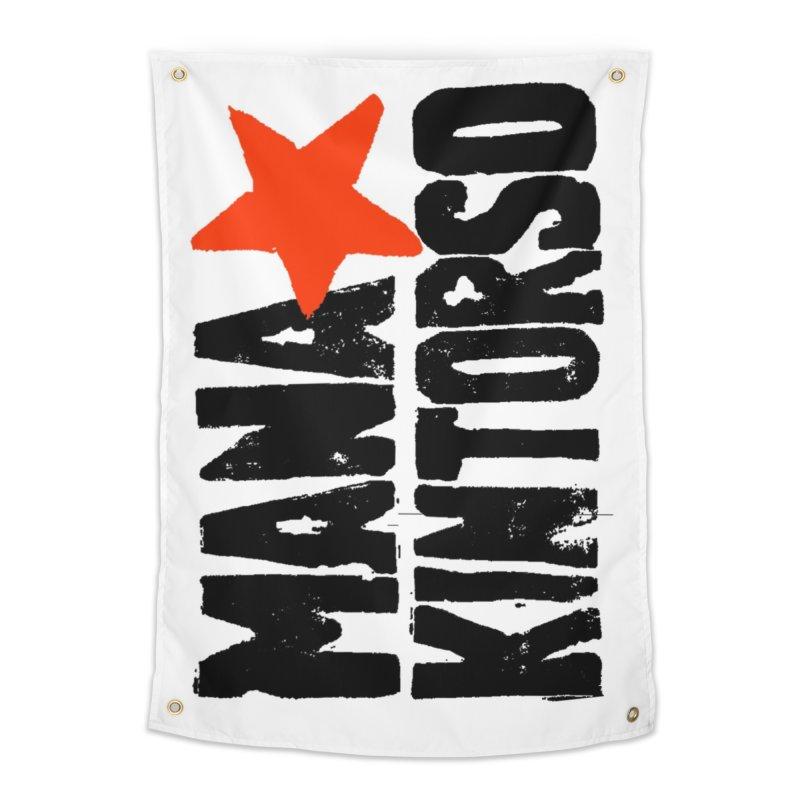 ManaKintorso Official Logo - White Home Tapestry by HomeBrew RockStars Merch Shop