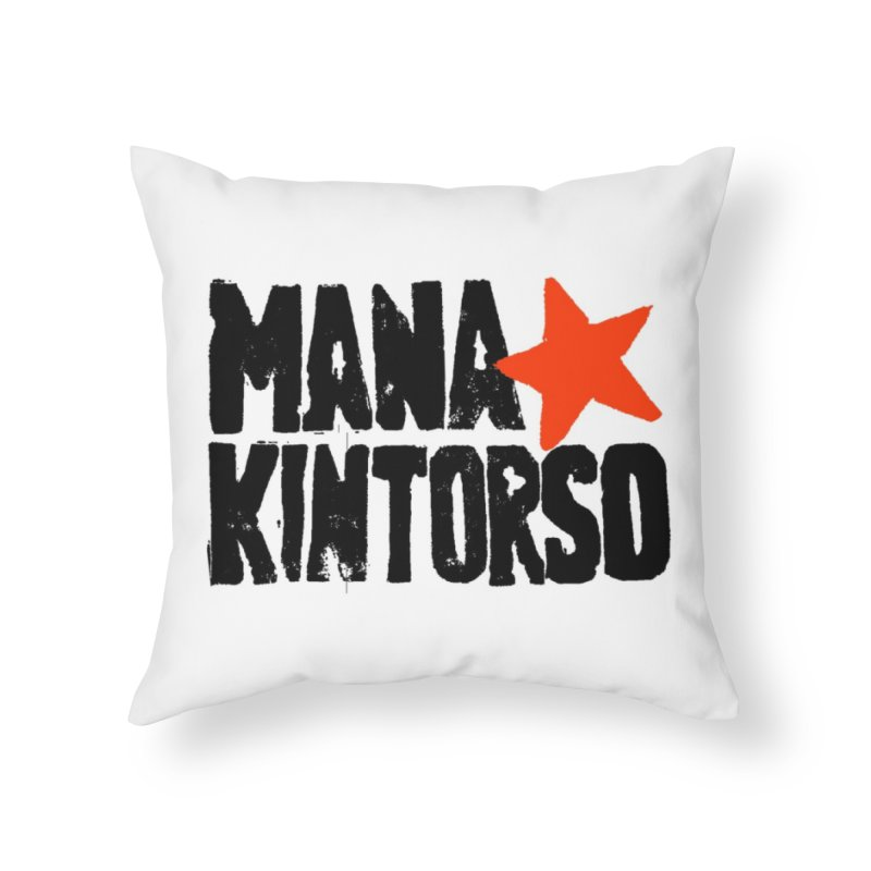 ManaKintorso Official Logo - White Home Throw Pillow by HomeBrew RockStars Merch Shop