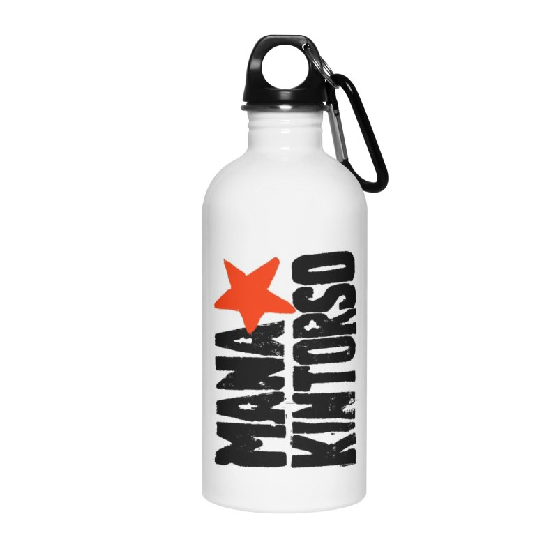 ManaKintorso Official Logo - White Accessories Water Bottle by HomeBrew RockStars Merch Shop