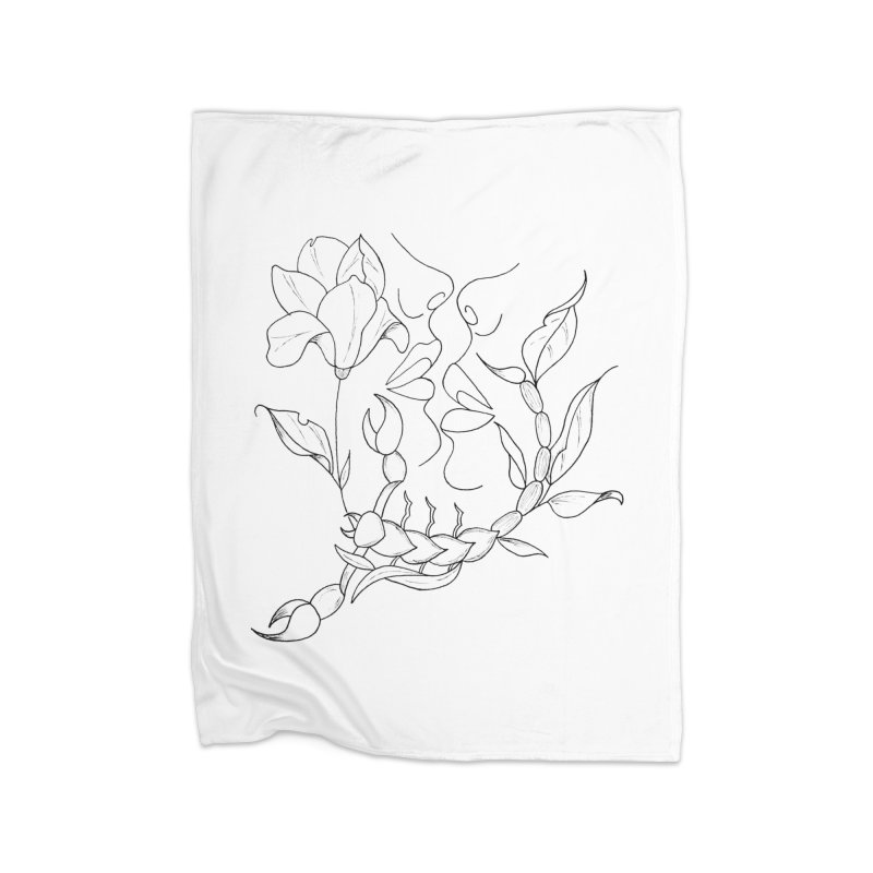 Venus in Scorpio (graphic) Home Blanket by Homeslice Productions