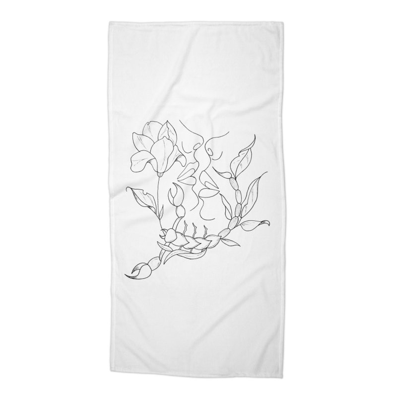 Venus in Scorpio (graphic) Accessories Beach Towel by Homeslice Productions