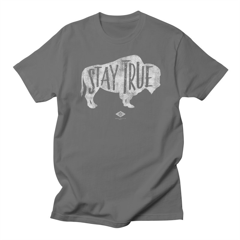 Where the Buffalo Roam Men's T-Shirt by Hometown Hustle