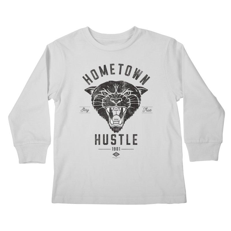 Panther Hustle Kids Longsleeve T-Shirt by Hometown Hustle