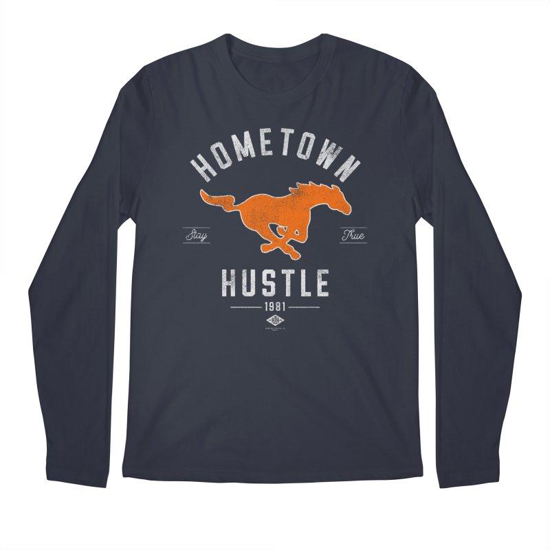 Mustang Hustle Men's Longsleeve T-Shirt by Hometown Hustle