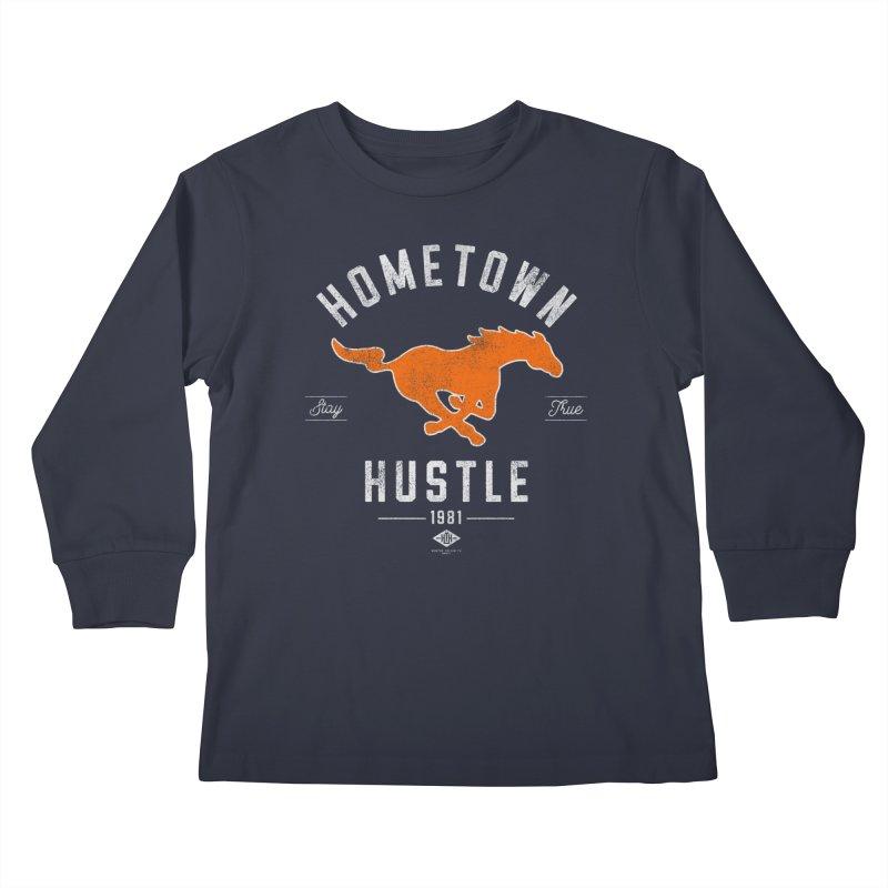 Mustang Hustle Kids Longsleeve T-Shirt by Hometown Hustle