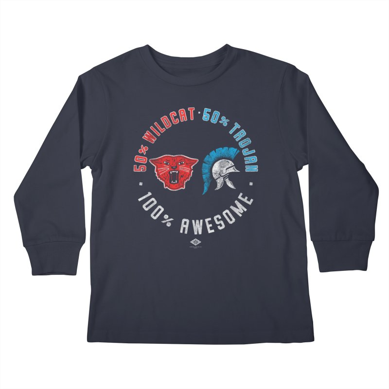 100% Awesome Kids Longsleeve T-Shirt by Hometown Hustle