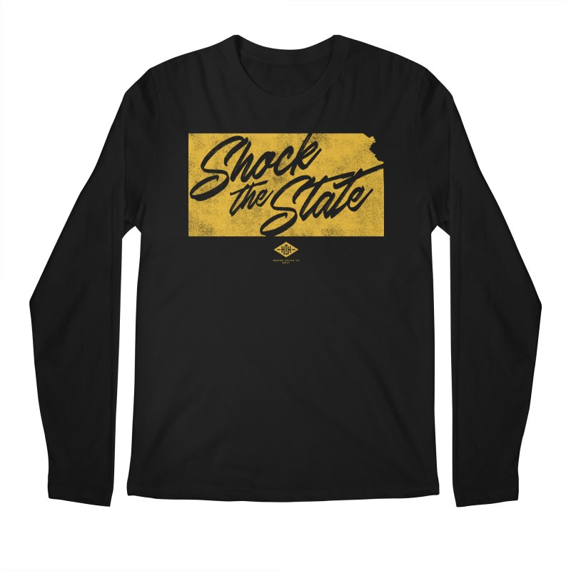 Shock the State Men's Longsleeve T-Shirt by Hometown Hustle