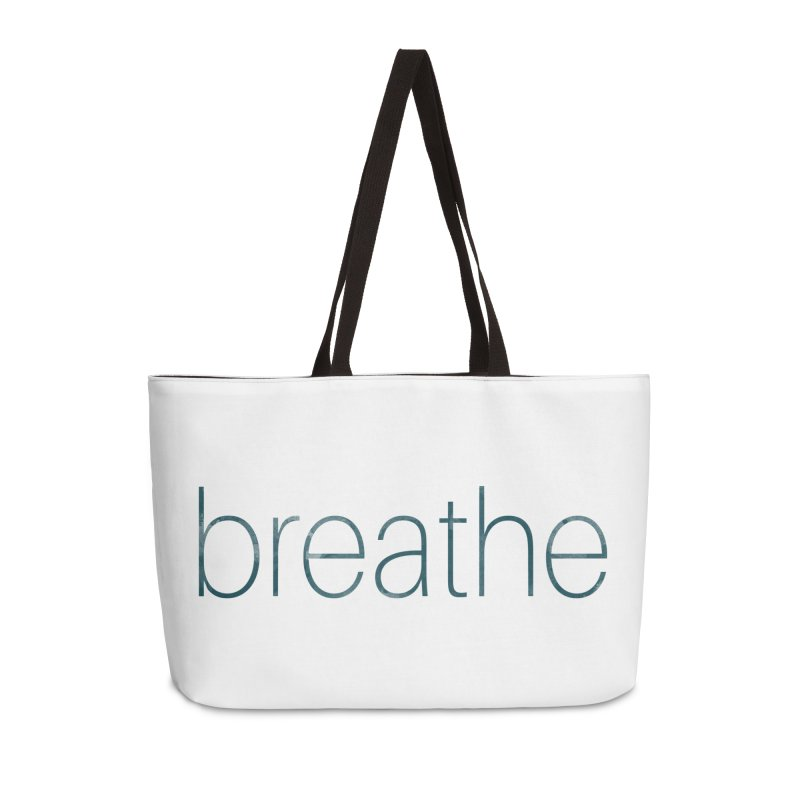 Breathe - Teal Skinny Letters Accessories Bag by Honeybee Clothing and Wares