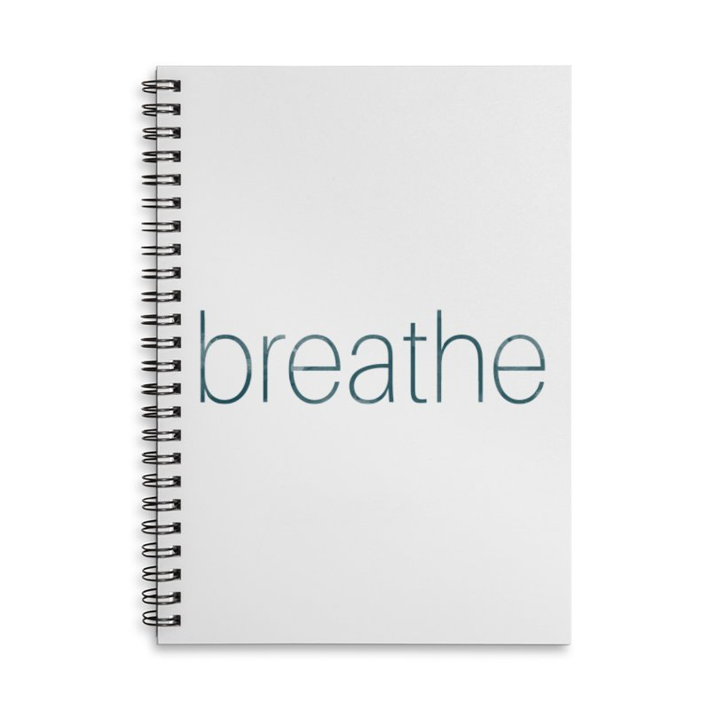 Breathe - Teal Skinny Letters Accessories Notebook by Honeybee Clothing and Wares
