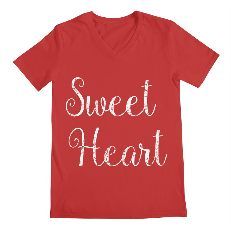 Sweet Heart Men's V-Neck by Honeybee Clothing and Wares