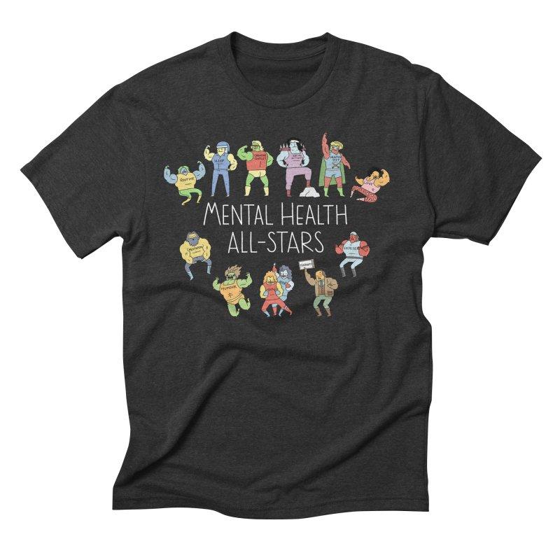 Mental Health All-Stars Men's Triblend T-Shirt by Honey Dill on Threadless