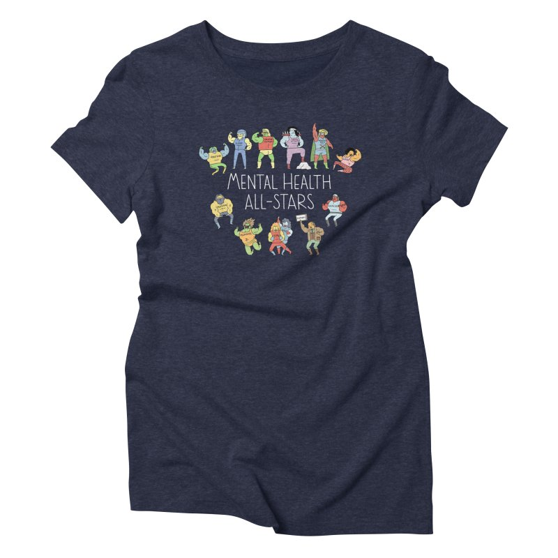 Mental Health All-Stars Women's T-Shirt by Honey Dill on Threadless