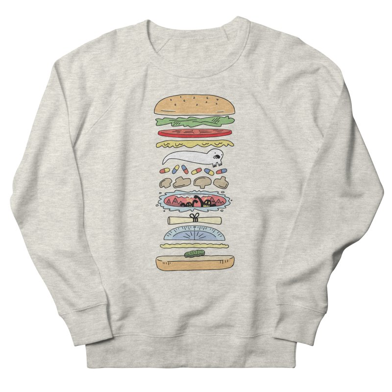 Perfect Burger Men's French Terry Sweatshirt by Honey Dill on Threadless