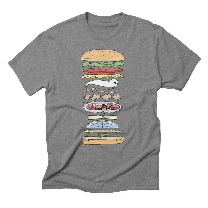 Perfect Burger Men's Triblend T-Shirt by Honey Dill on Threadless