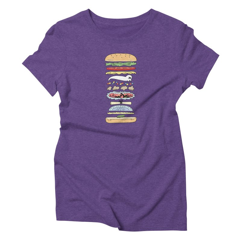 Perfect Burger in Women's Triblend T-Shirt Tri-Purple by Honey Dill on Threadless