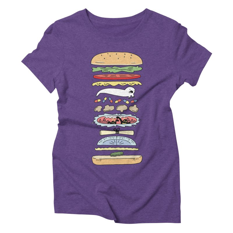 Perfect Burger Women's Triblend T-Shirt by Honey Dill on Threadless