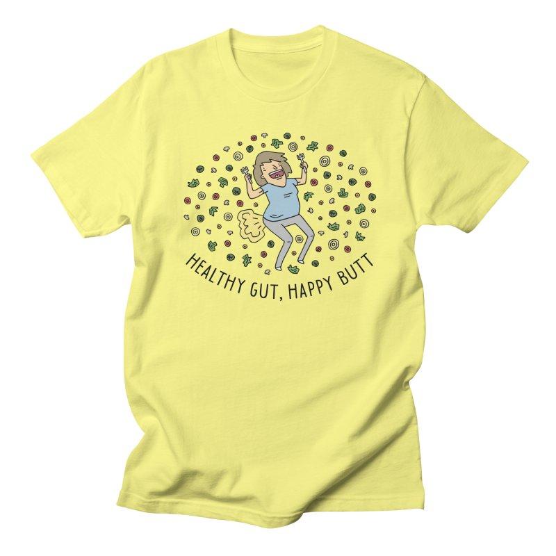 Health Gut, Happy Butt Men's Regular T-Shirt by Honey Dill on Threadless