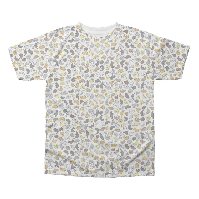 Cat Pattern Shirt Men's Triblend All Over Print by Honey Dill on Threadless