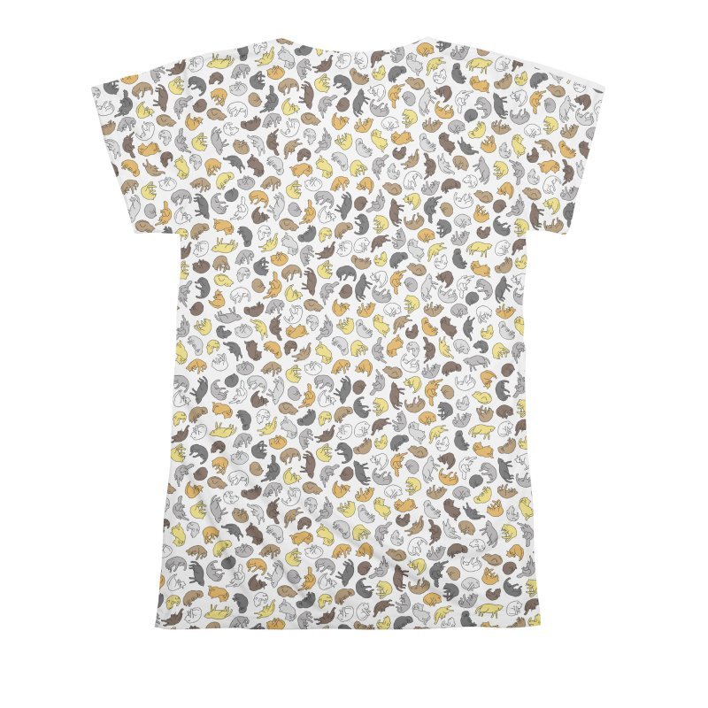 Cat Pattern Shirt Women's All Over Print by Honey Dill on Threadless