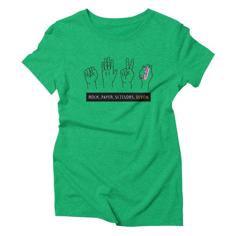 Rock, Paper, Scissors, Devon Women's Triblend T-Shirt by Honey Dill on Threadless