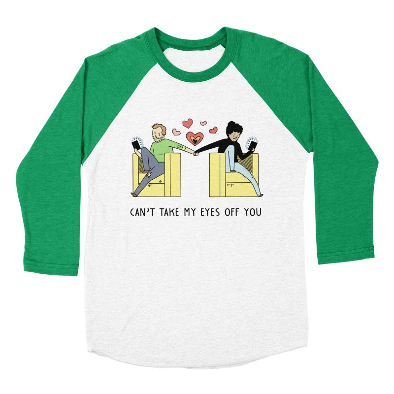 Can't Take My Eyes Off You Women's Baseball Triblend Longsleeve T-Shirt by Honey Dill on Threadless