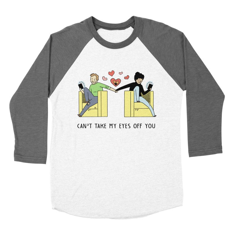 Can't Take My Eyes Off You Men's Baseball Triblend Longsleeve T-Shirt by Honey Dill on Threadless