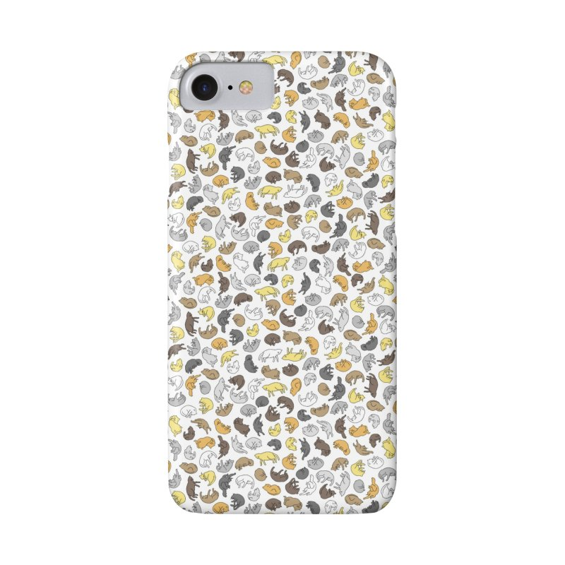 Large Cat Pattern in iPhone 8 Phone Case Slim by Honey Dill on Threadless