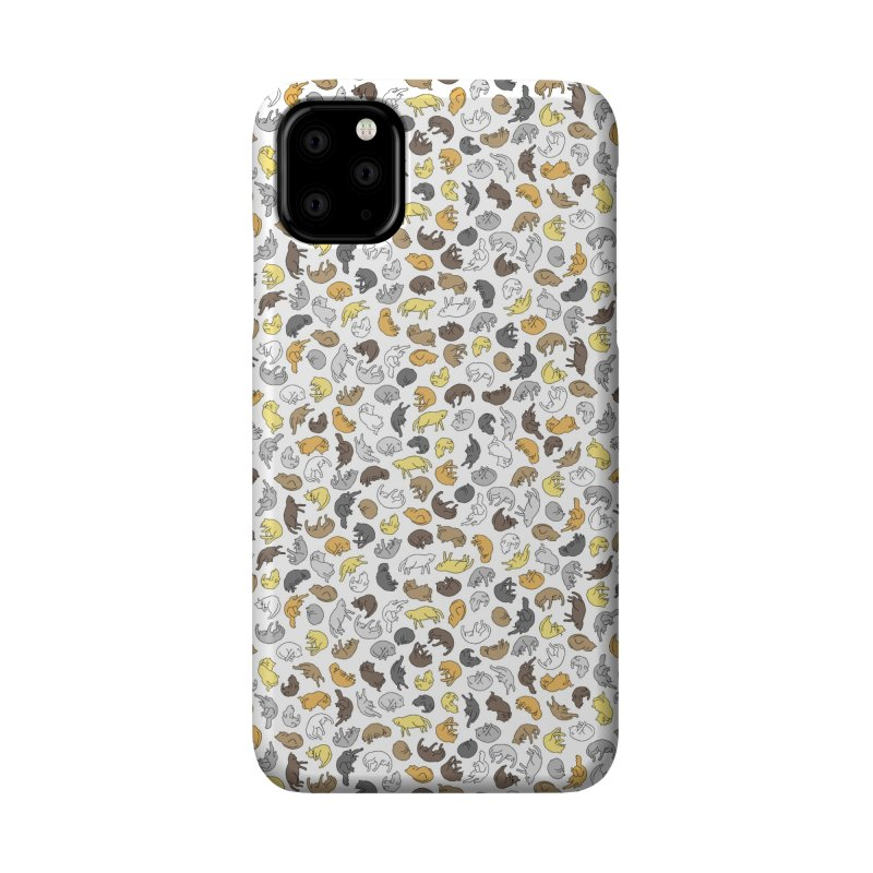 Large Cat Pattern Accessories Phone Case by Honey Dill on Threadless