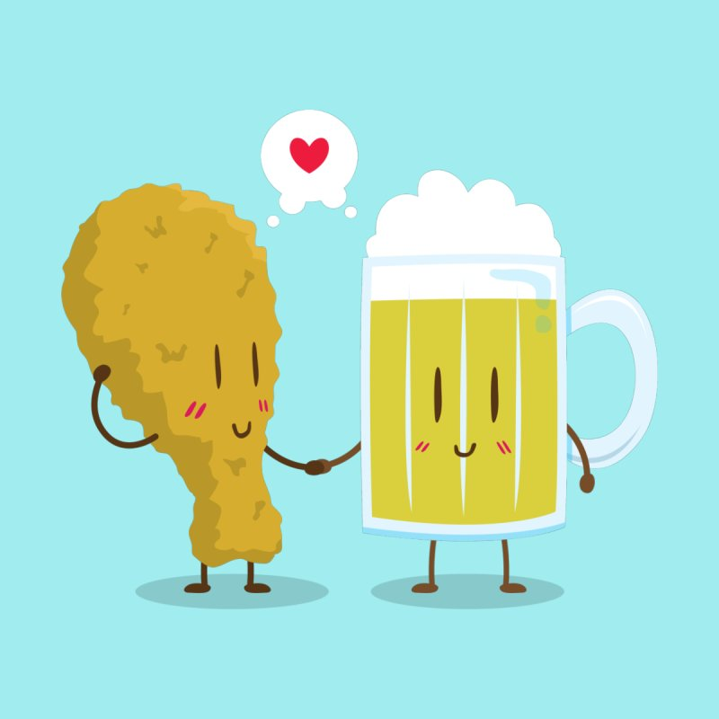 Fried Chicken + Beer = Love by hookeeak's Artist Shop