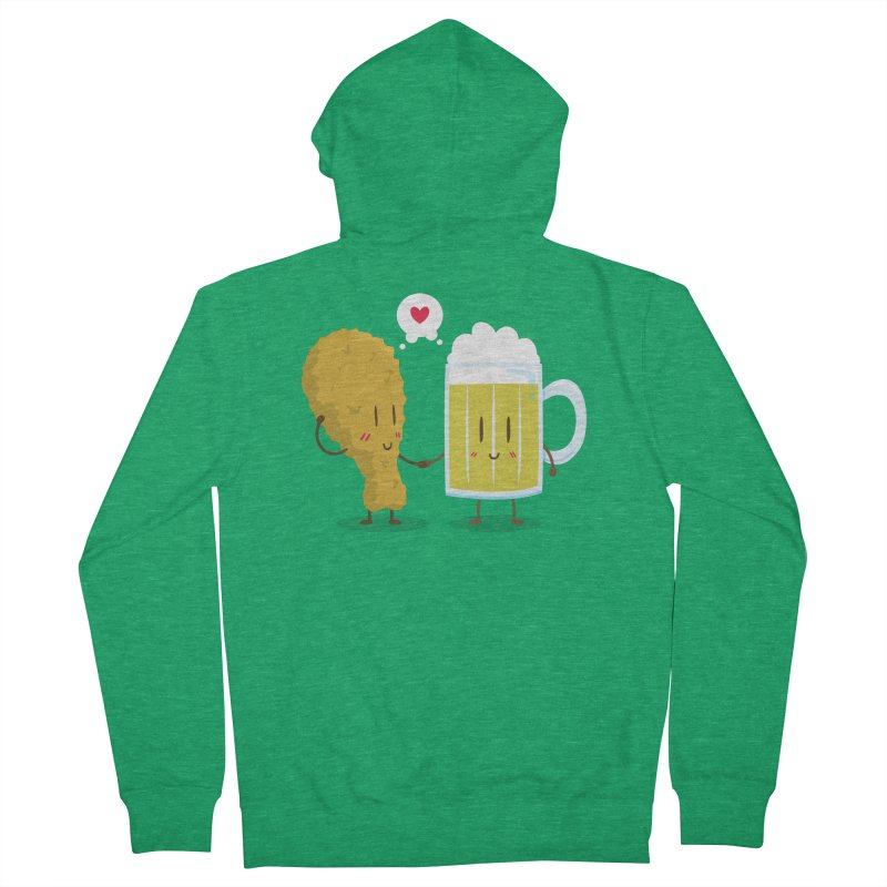 Fried Chicken + Beer = Love Men's Zip-Up Hoody by hookeeak's Artist Shop