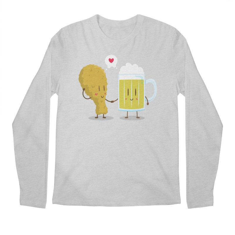 Fried Chicken + Beer = Love Men's Longsleeve T-Shirt by hookeeak's Artist Shop