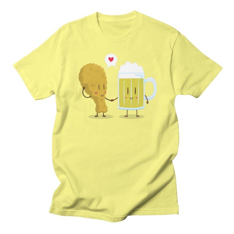 Fried Chicken + Beer = Love Men's T-shirt by hookeeak's Artist Shop