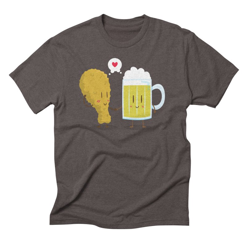Fried Chicken + Beer = Love Men's Triblend T-Shirt by hookeeak's Artist Shop
