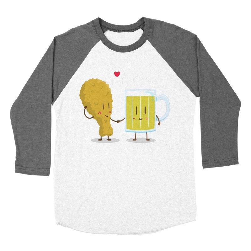 Fried Chicken + Beer = Love Women's Baseball Triblend T-Shirt by hookeeak's Artist Shop