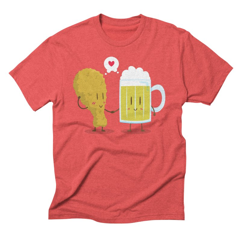 Fried Chicken + Beer = Love Men's Triblend T-shirt by hookeeak's Artist Shop