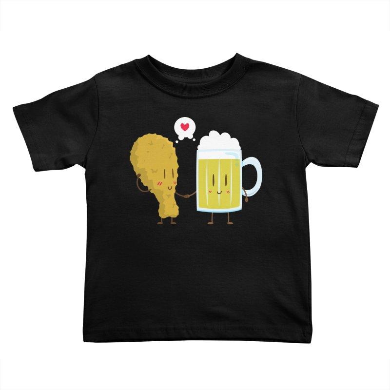 Fried Chicken + Beer = Love Kids Toddler T-Shirt by hookeeak's Artist Shop