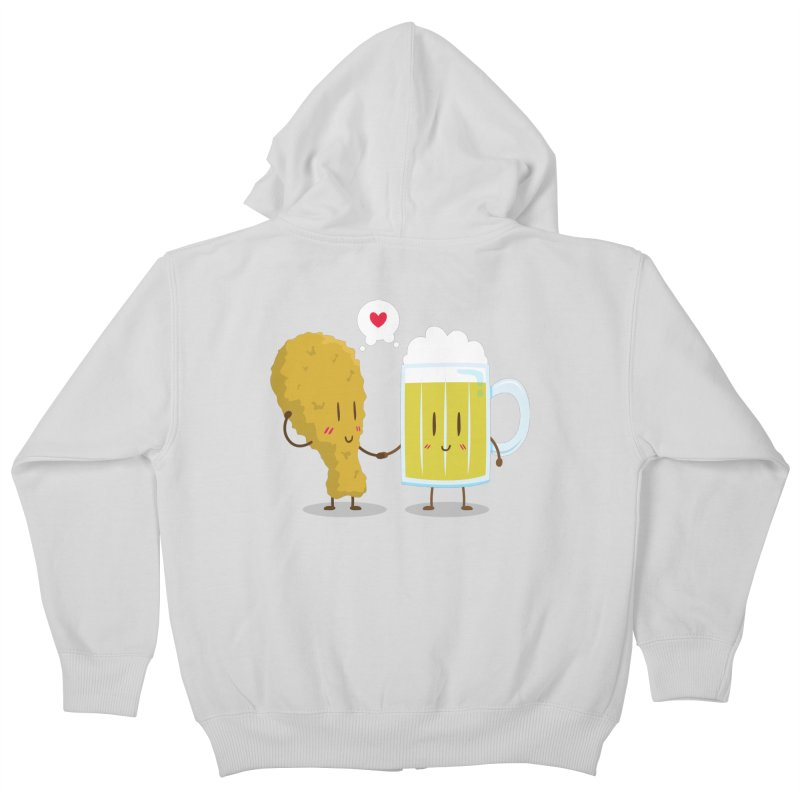 Fried Chicken + Beer = Love Kids Zip-Up Hoody by hookeeak's Artist Shop