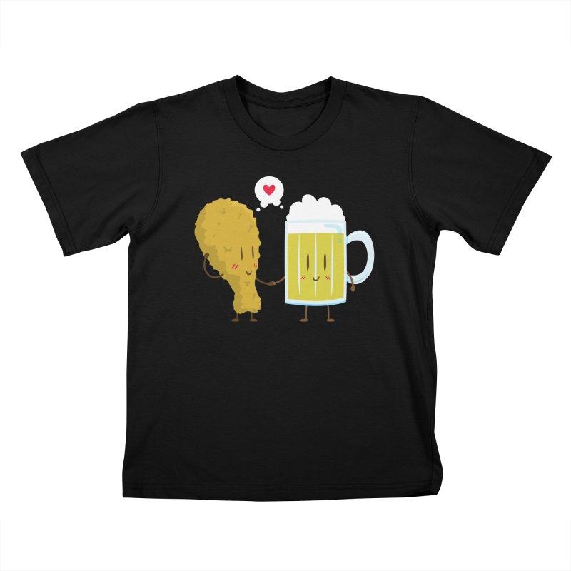 Fried Chicken + Beer = Love Kids T-shirt by hookeeak's Artist Shop
