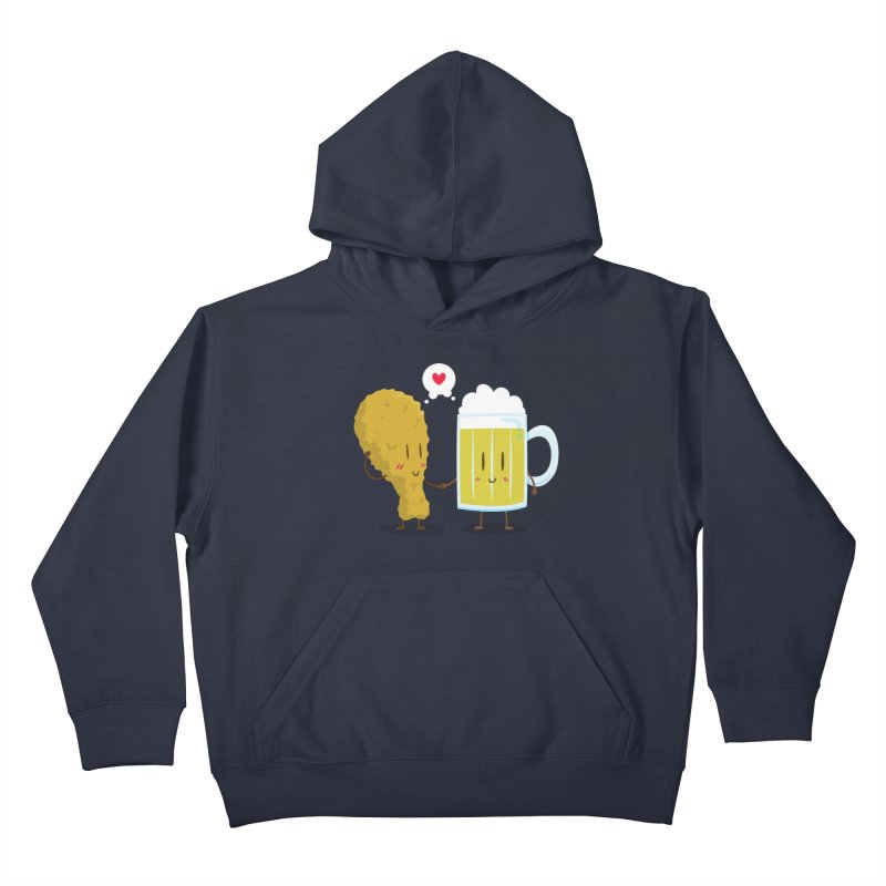 Fried Chicken + Beer = Love Kids Pullover Hoody by hookeeak's Artist Shop