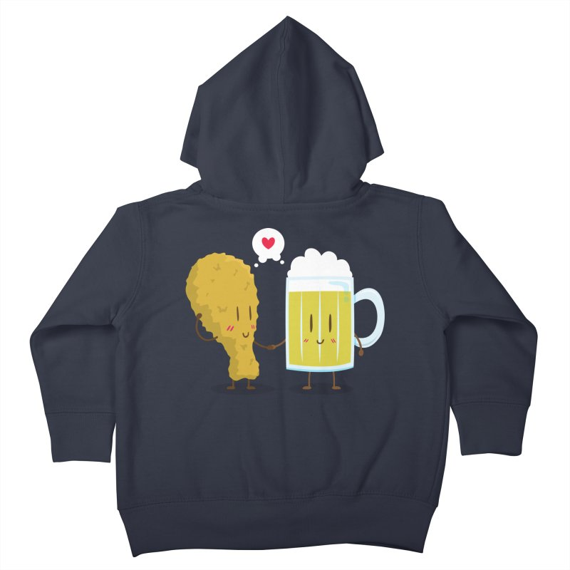 Fried Chicken + Beer = Love Kids Toddler Zip-Up Hoody by hookeeak's Artist Shop