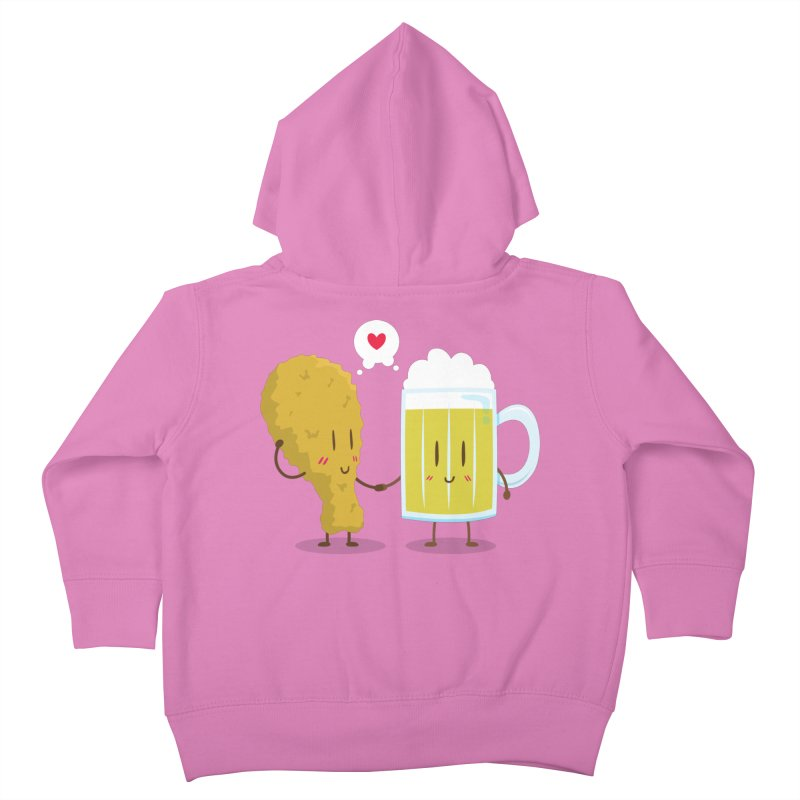 Fried Chicken + Beer = Love Kids Toddler Zip-Up Hoody by hookeeak's Artist Shop